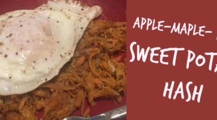 Recipe #14: Apple Maple Bacon Sweet Potato Hash
